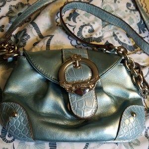 Gently used Metallic Blue Kathy Van Zeeland Purse
